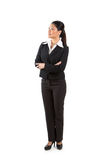 Asian business woman looking up. Stock Images