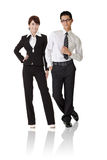 Asian business woman and man Royalty Free Stock Image