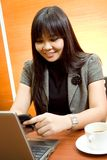 Asian business woman networking Stock Images