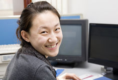 Asian business woman in office Stock Images