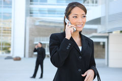 Asian Business Woman On Phone Royalty Free Stock Photos