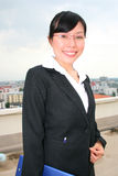 Asian business woman outdoors. Stock Images
