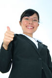 Asian business woman outdoors. Royalty Free Stock Image