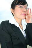 Asian business woman outdoors. Stock Photo