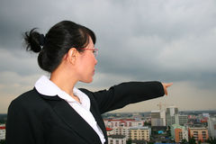Asian business woman outdoors. Royalty Free Stock Photography