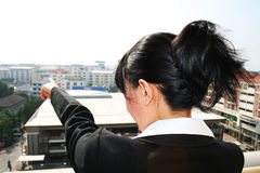 Asian business woman outdoors. Stock Image