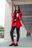 Asian business woman outdoors Stock Photos