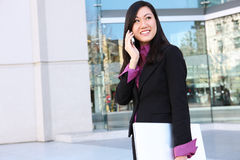 Asian Business Woman on Phone Royalty Free Stock Image