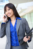 Asian Business Woman on the Phone Stock Photo