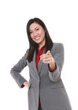 Asian Business Woman Pointing Stock Images