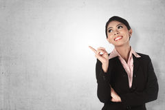 Asian Business Woman Pointing Stock Photography