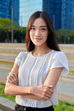 Asian business woman portrait Royalty Free Stock Images