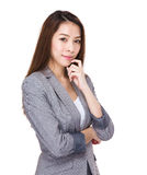 Asian business woman portrait Royalty Free Stock Image