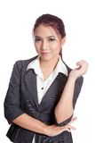 Asian business woman pose with confidence and smile. Isolated on white background Stock Image