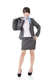 Asian business woman posing with case Royalty Free Stock Images