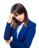 Asian business woman with serious headache Stock Photography