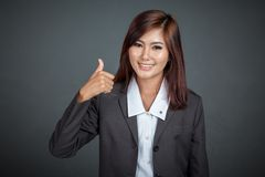 Asian business woman show thumbs up Stock Photos