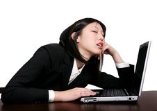 Asian business woman sleeping Royalty Free Stock Photos