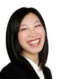Asian business woman smiling Royalty Free Stock Photography