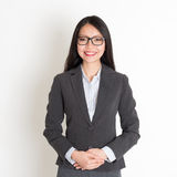 Asian business woman smiling Stock Photo