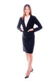 Asian business woman smiling happy portrait isolalted. Stock Photography