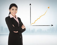 Asian business woman smiling Royalty Free Stock Photos