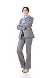 Asian business woman standing, smiling at camera Royalty Free Stock Image