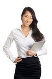Asian Business Woman with tablet Royalty Free Stock Photo