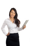 Asian Business Woman with tablet Royalty Free Stock Photography