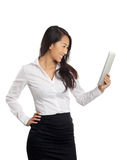 Asian Business Woman with tablet Stock Photo