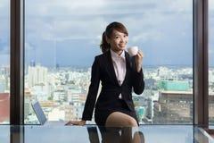 Asian business woman take a break Stock Photography