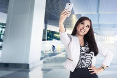 Asian business woman take selfie Royalty Free Stock Photos