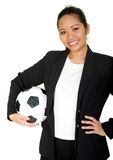 Asian business woman - team player Stock Photography