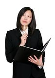 Asian business woman thinking Stock Photos
