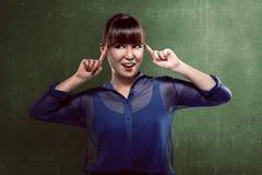 Asian business woman thinking Stock Image