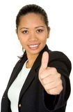 Asian business woman - thumbs up Royalty Free Stock Photography