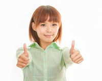 Asian business woman thumbs up Stock Images