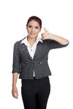 Asian business woman thumbs up  and smile Stock Photo
