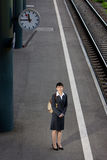 Asian business woman travel Stock Photo