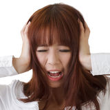 Asian business woman under stress Stock Images
