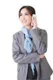 Asian business woman use cellphone Royalty Free Stock Image