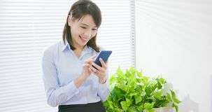 Business woman use smart phone stock images