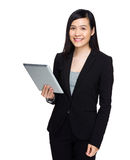 Asian business woman use tablet Royalty Free Stock Image