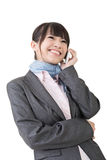 Asian business woman using cell phone Stock Image