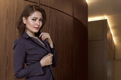 Asian business woman wearing suit Royalty Free Stock Images
