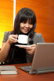 Asian business woman at work Royalty Free Stock Image