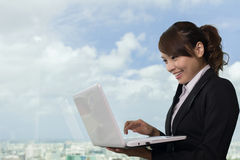 Asian business woman work Stock Image