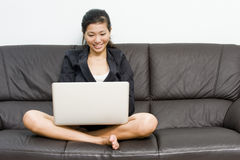 Asian business woman working from home Royalty Free Stock Photography