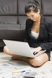 Asian business woman working from home Stock Image