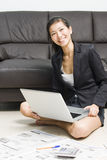 Asian business woman working from home Royalty Free Stock Image